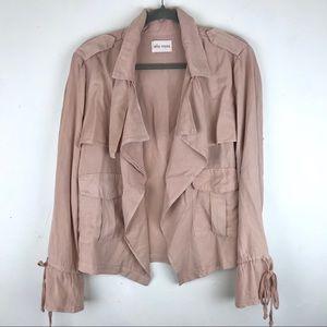 Ella Moss Blush Pink Drape Open Cargo Jacket